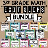 Math Exit Slip Bundle