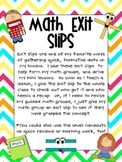 Math Exit Slip Pack
