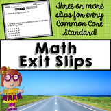 Third Grade Math Exit Slips