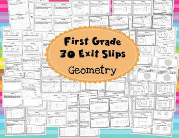 Math Exit Slips 1st grade Geometry CCSS