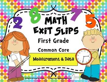 Math Exit Slips 1st grade Measurement & Data CCSS