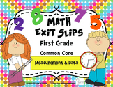 Math Exit Slips 1st grade Measurement & Data CCSS