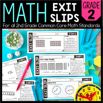Math Exit Slips   2nd Grade