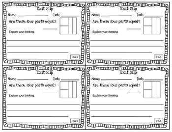 Math Exit Slips 2nd grade Geometry CCSS