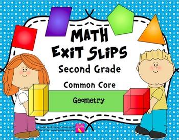 Math Exit Slips 2nd grade Geometry CCSS