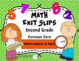 Math Exit Slips 2nd grade Measurement & Data CCSS