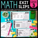 Math Exit Slips | 3rd Grade