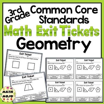 Math Exit Slips - 3rd Grade Common Core Geometry