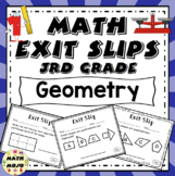 Math Exit Slips - 3rd Grade Common Core Geometry