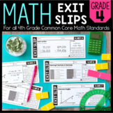 Math Exit Slips | 4th Grade