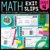 Math Exit Slips   4th Grade