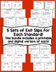 4th Grade Math Exit Slips - All Standards Bundle