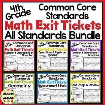 Math Exit Slips - 4th Grade
