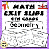 Math Exit Slips - 4th Grade Geometry