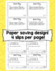 Math Exit Slips - 4th Grade Common Core Operations and Alg