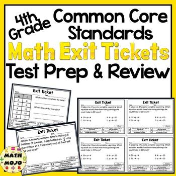 Math Exit Slips - 4th Grade Common Core Test Prep