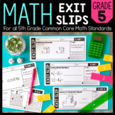 Math Exit Slips   5th Grade