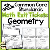 Math Exit Slips - 5th Grade Common Core Geometry
