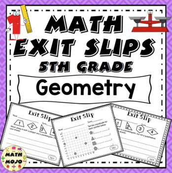 Math Exit Slips - 5th Grade Common Core Geometry