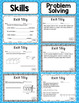 Math Exit Slips - 5th Grade Common Core Measurement and Data