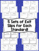 Math Exit Slips - 5th Grade Common Core Number and Operations - Fractions
