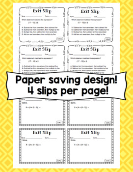 Math Exit Slips - 5th Grade Common Core Operations and Algebraic Thinking