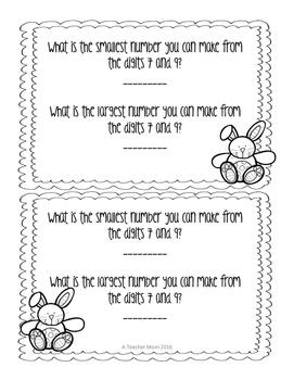 Math Exit Slips - April -Grade 1