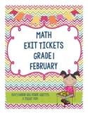 Math Exit Slips - February - Grade 1