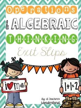 Math Exit Slips OA - Grade 1