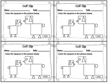 Math Exit Slips Kindergarten CCSS Mega Bundle