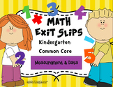 Math Exit Slips Kindergarten Measurement and Data CCSS