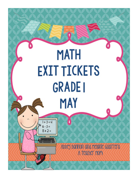 Math Exit Slips - May -Grade 1