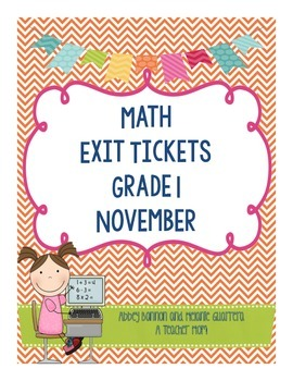 Math Exit Slips - November -Grade 1