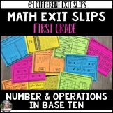 Math Exit Slips (Number and Operations in Base Ten)