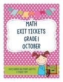 Math Exit Slips - October -Grade 1