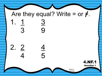 Math Exit Slips PowerPoint 4th Grade Common Core Number & Operations - Fractions