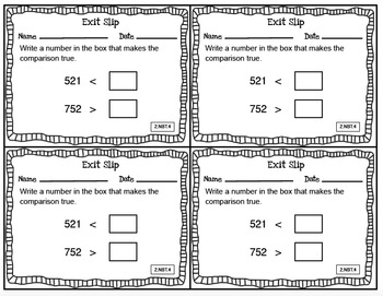 Math Exit Slips Second Grade CCSS Mega Bundle