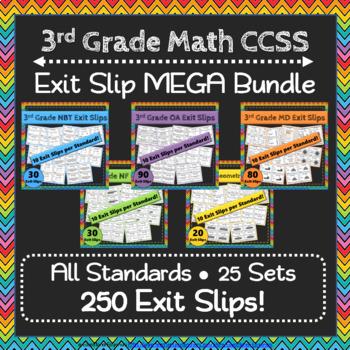 Math Exit Slips ULTIMATE Bundle: ALL Common Core Standards Grades K-5 Exit Slips
