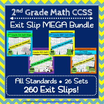 Math Exit Slips ULTIMATE Bundle: ALL Common Core Standards Grades K-5 Exit Slips