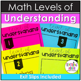 Math Exit Slips and Levels of Understanding Posters