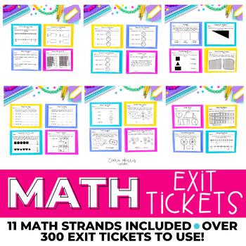 Math Exit Ticket BUNDLE