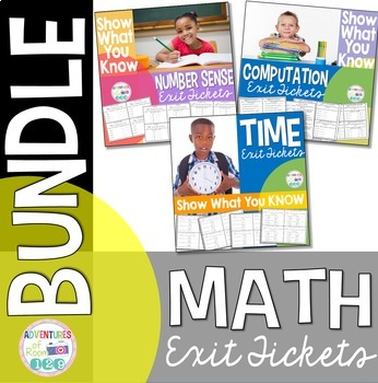 Math Exit Ticket BUNDLE