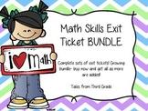 Math Exit Ticket Growing BUNDLE