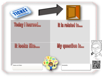 Math Exit Ticket for Grades 5-8