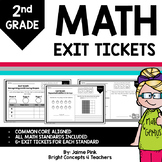 Math Exit Tickets - 2nd Grade {DISTANCE LEARNING}