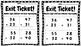 Math Exit Tickets- 2nd grade