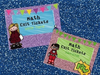 Math Exit Tickets Bundle-Addition and Subtraction