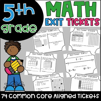 Math Exit Tickets - All Fifth Grade Common Core Standards