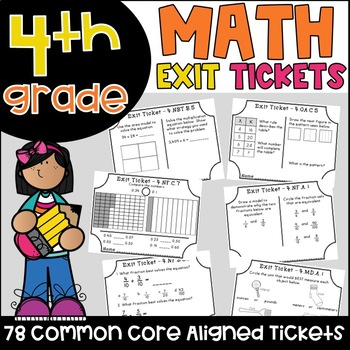 Common core exit tickets and assessments teaching resources math exit tickets all fourth grade common core standards fandeluxe Image collections