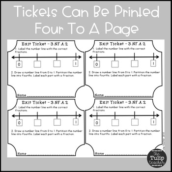 Math Exit Tickets - All Third Grade Common Core Standards